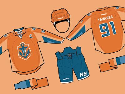 Islanders Alt Jersey team sports design sports branding sports shield logos logo design logo hockey branding brand orange