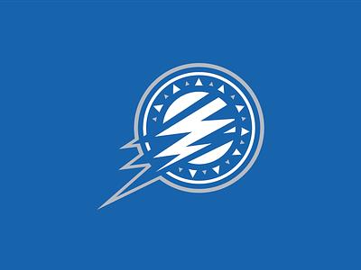 TB Lightning Logo blue logos design team logo design logo hockey sports branding sports design sports branding brand
