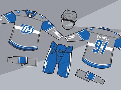Lightning Alt Jersey blue logos design team logo design logo hockey sports branding sports design sports branding brand