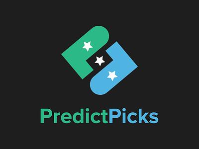 PredictPicks Logo brand identity logo identity brand design logo design lockup fantasy sports logo brand