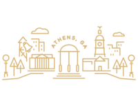 Athens Illustration