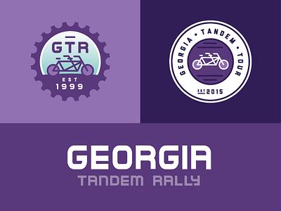 Georgia Tandem Rally Brand brand identity logo design logo modern clean brand branding stroke illustration bike bikes