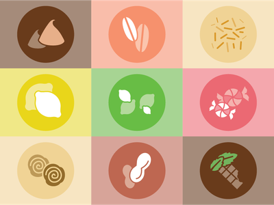 Cookie Dough Icons sprinkles chocolate colors brand identity cookie dough cookies cookie icon design design iconography icons icon