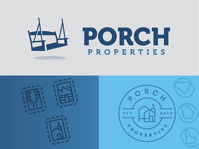 Porch Properties vector type icon typography wordmark lockup brand identity brand brand design logo design logo