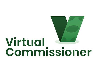 Virtual Commish vector type icon typography wordmark lockup brand identity brand brand design logo design logo