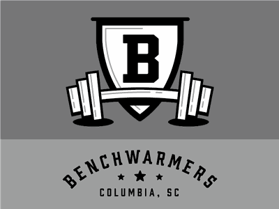 Benchwarmers logo vector type icon typography wordmark lockup brand identity brand brand design logo design logo