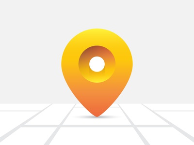 Location Pin ui sketch mark logo gradient flat drawing design clean app