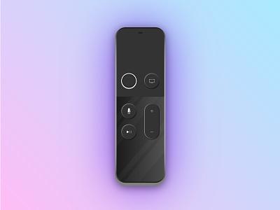 Apple Remote apple tv vector illustration clean flat design product remote apple