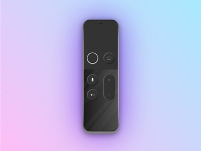 Apple Remote apple tv vector illustration clean flat design product remote apple