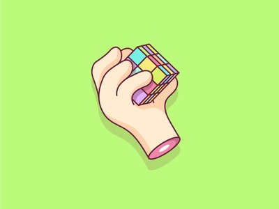 Rubiks Cube colors rubiks cube vector art lines lineart vector illustration icon mark sketch drawing flat logo clean design