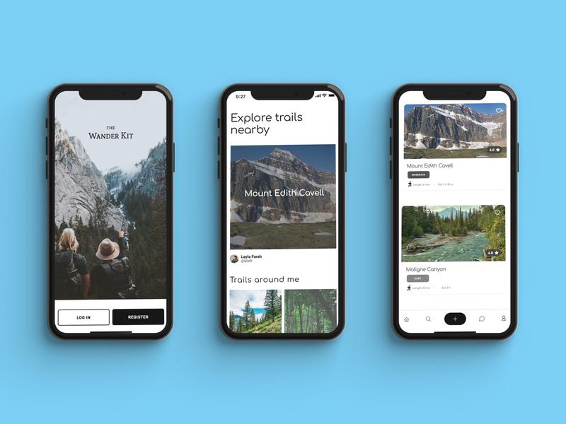 Hike App - UI Design