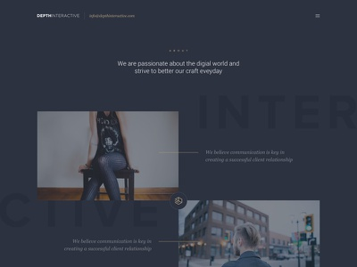 New Depth Website design agency about us website
