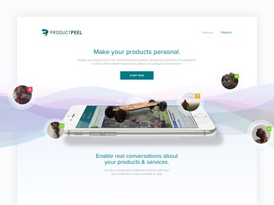 Product Peel Landing Page landing page website