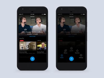 Mobile Navigation mobile app menu ios