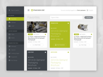 Packsize Sales Application interactive depth software sales application custom responsive web ux ui interface desktop