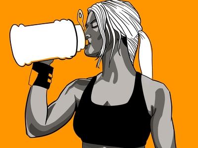 Staying Hydrated Orange