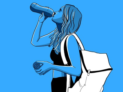 Staying Hydrated - Blue