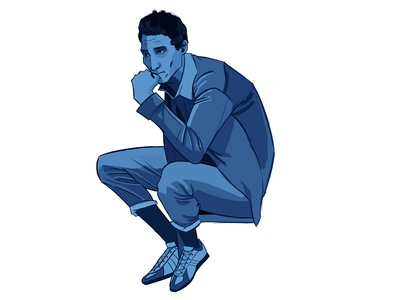Blue Sitting