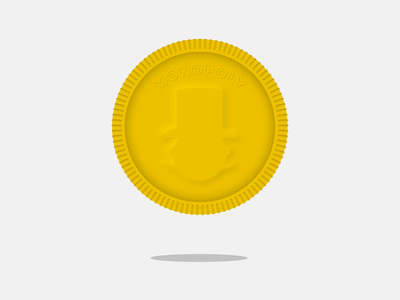 Monopoly Coin gold neumorphism neumorphic sketch monopoly money coin currency weekly challenge weeklywarmup animation after effects design ux illustration vector sketchapp ui flat minimal