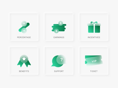 Frosted Icons frosted glass icons branding neumorphism design ux illustration vector sketchapp ui flat minimal