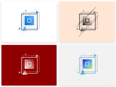 Geometric Squares illustration vector minimal flat sketchapp patterns graphicdesign graphic ui sketch abstract shapes geometric