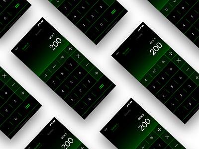 Daily UI 004 ios calculator ui calculator app ux ui minimal flat design dailyui daily 100 challenge