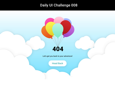 404 Page interaction animation 404 error page 404 page after effects adobe sketchapp website landing page illustration vector ux ui minimal flat dailyui daily 100 challenge