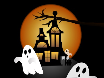 Haunting Ghosts halloweek art vector art illustration art ghost halloween design minimal flat sketchapp vector illustration