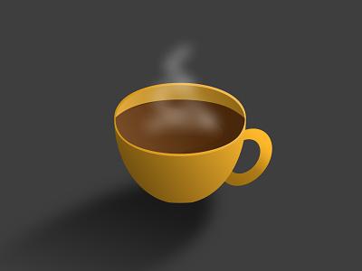 Coffee cup cup coffee cup vector art sketchapp vector illustration minimal flat
