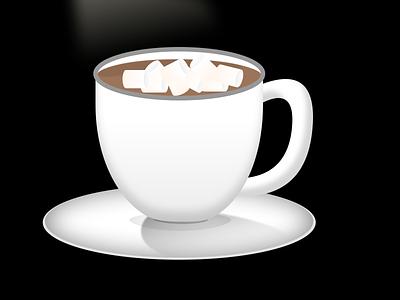 Hot Chocolate skeumorphic coffee coffee cup design sketchapp ui illustration minimal flat