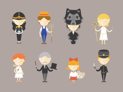 Werewolf Characters Full Body