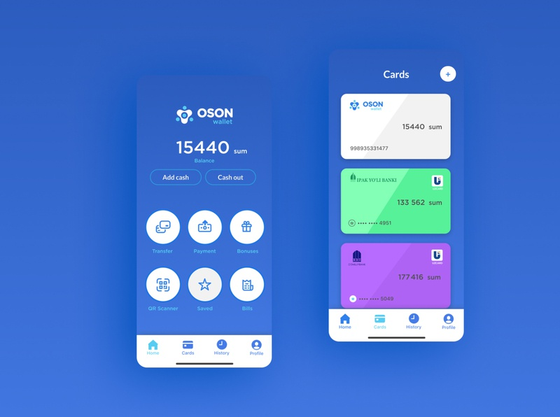 OSON App application icon pardo ux logo illustration ui design shux app wallet oson