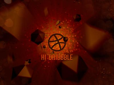 Hi Dribbble - Space Explosion
