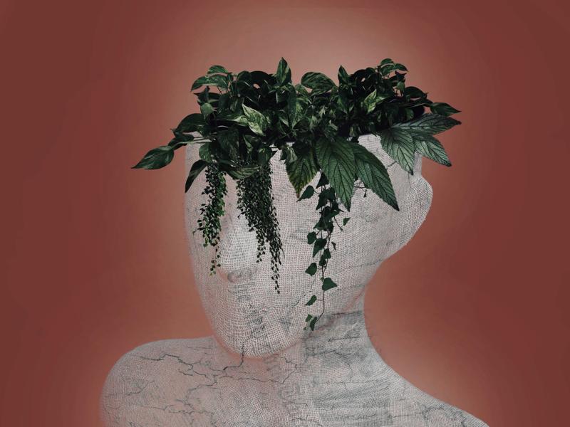 Futuristic mind colors mind sustainable green illustrator adobe photoshop