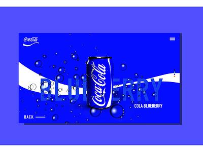 Coca Cola new flavours concept ux design web ui