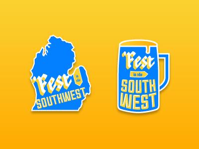 'Fest In The Southwest graphics germany brats logo type oktoberfest bavarian michigan beer