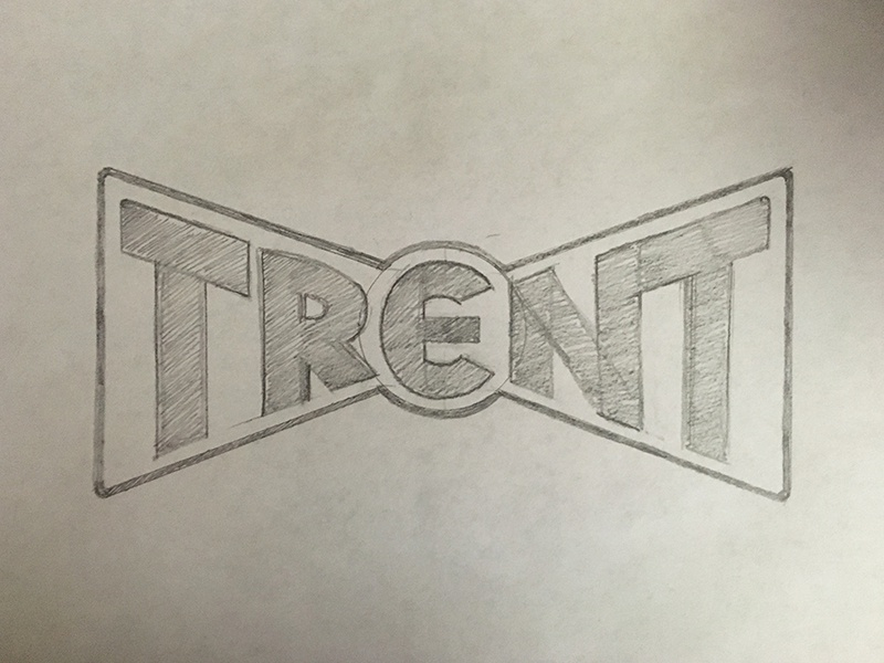 Trent Type Bow Tie sketch badge bow tie lettering type