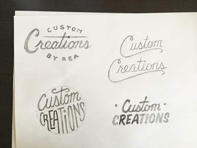 Custom Creations sketches