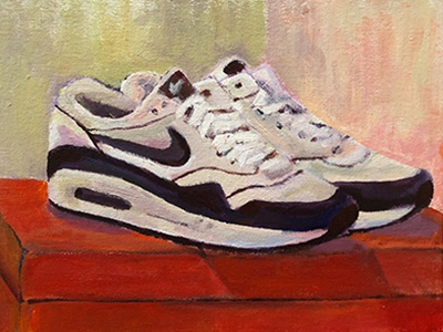 Nike Airmax 1 acrylic painting