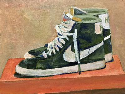 Nike Blazer acrylic painting
