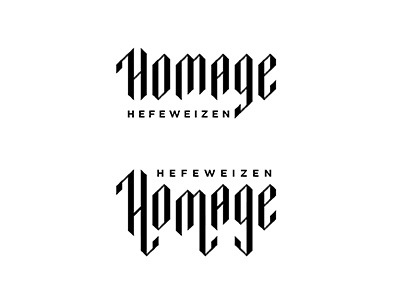 Homage Typography