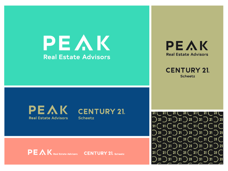 Peak Real Estate Logo century 21 realtor peak real estate logo