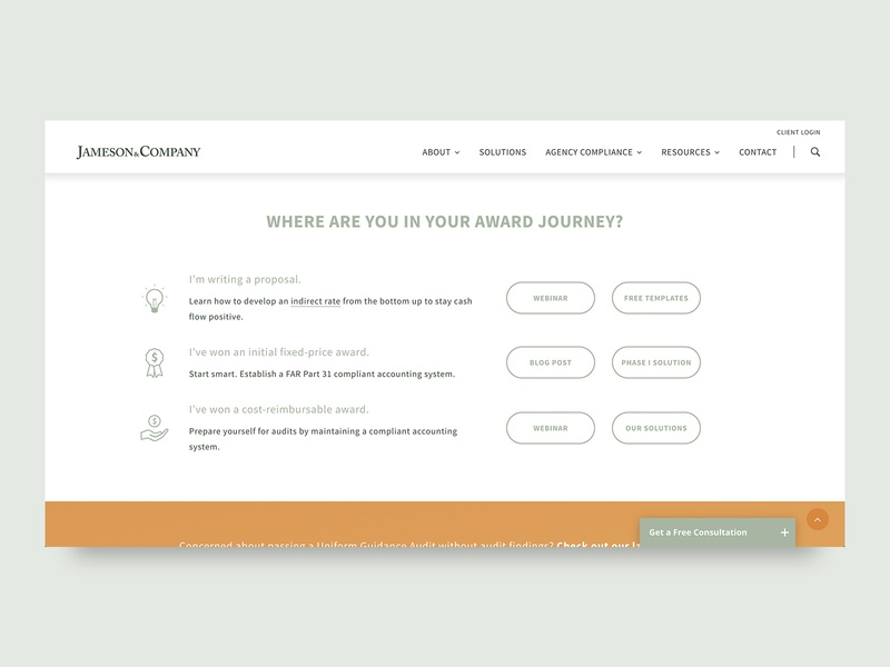 User Journey home page section tables grid content ux design user experience user journey