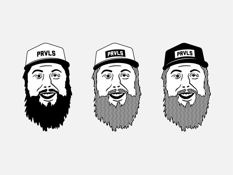 Dylan PRVLS illustration smile vector face hat beard lincoln illustration portrait
