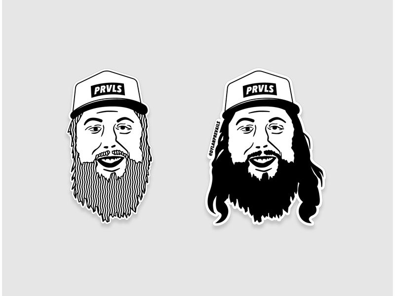 Dylan PRVLS illustration 2 portrait illustration smile face vector portrait