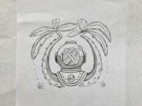 Diver logo sketch