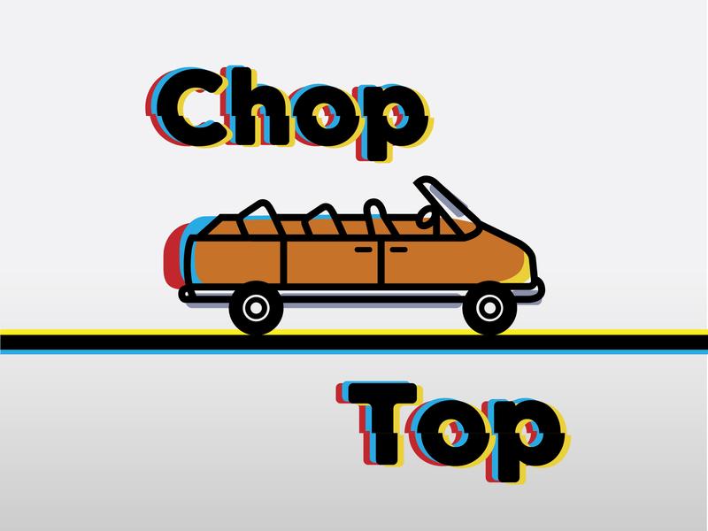 Chop Top IPA vector transporation vintage hop chop convertible astro van brewery beer