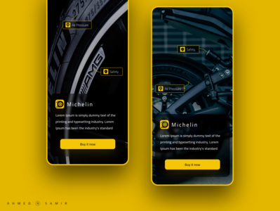 Trial tire yellow adobe xd mobile ux design ui design ux ui