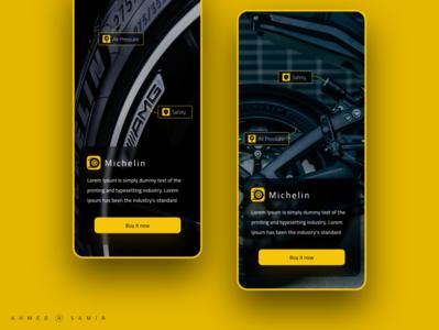 Trial tire yellow adobe xd mobile ux design ui design ux ui