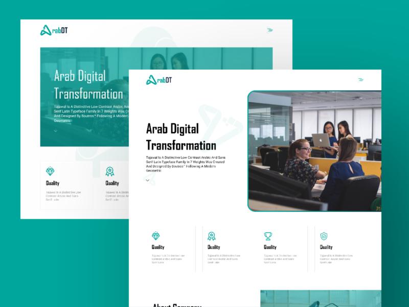 ArabDT Agancy it portfolio color ux design ui design uiux ux ui web design design web studio